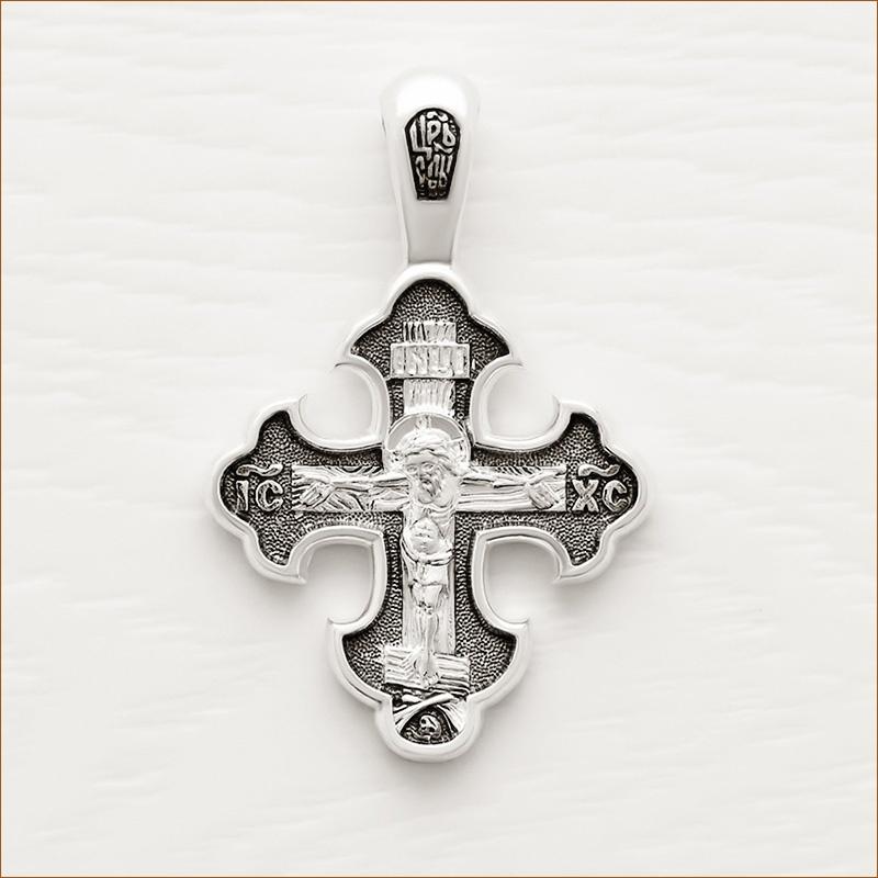 серебряный крестик арт.08087