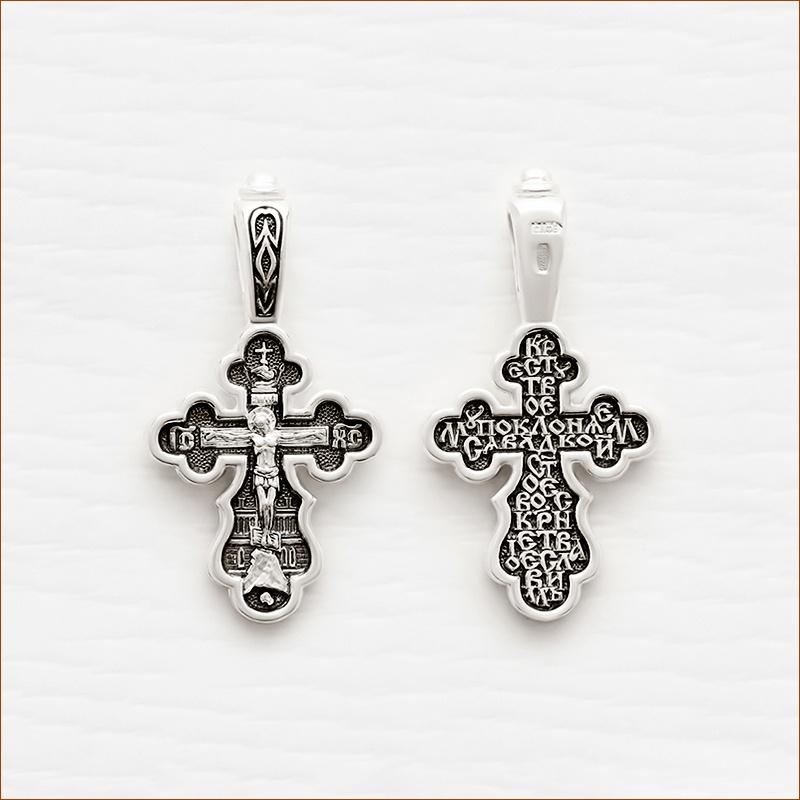 серебряный крестик с чернением арт.18210