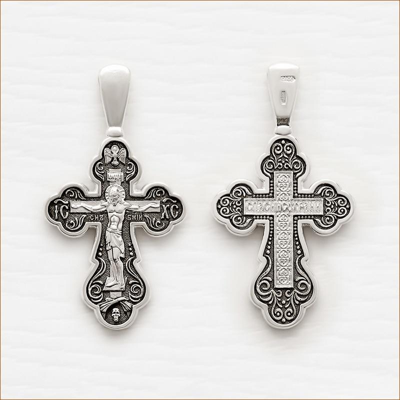 серебряный крест мужской арт.18076 чернение