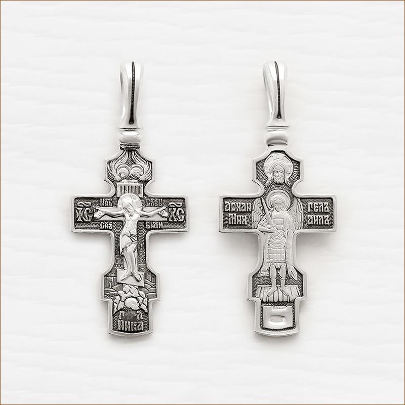 большой серебряный крест арт.03349