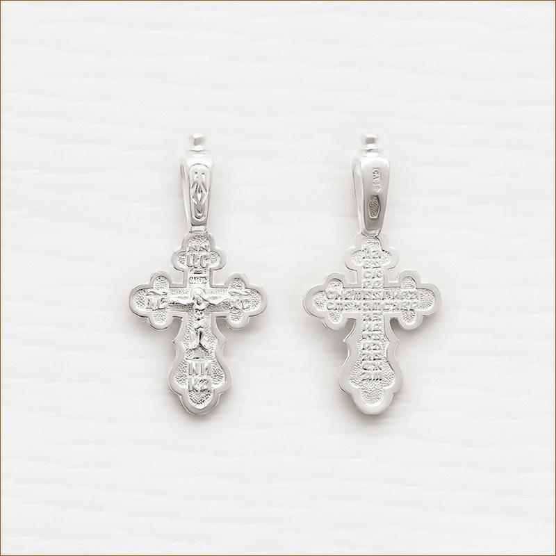 маленький серебряный крестик арт.03024