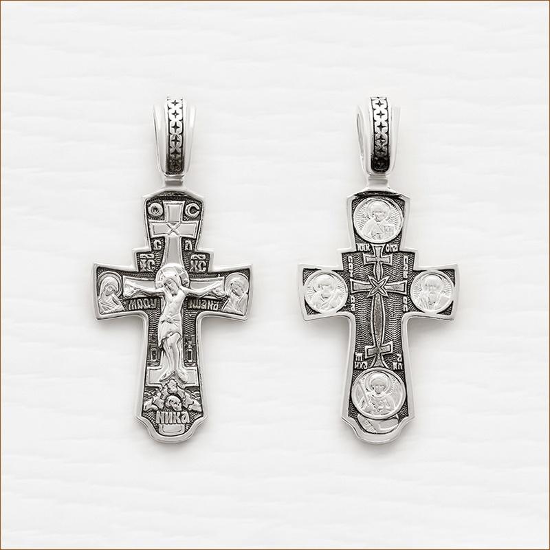 серебряный крестик арт.03341 с чернением