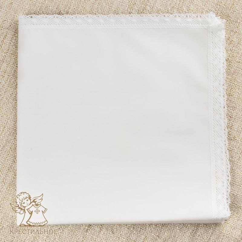 пеленка для крещения с кружевом по периметру