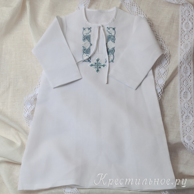 Вышитые крестильные платья
