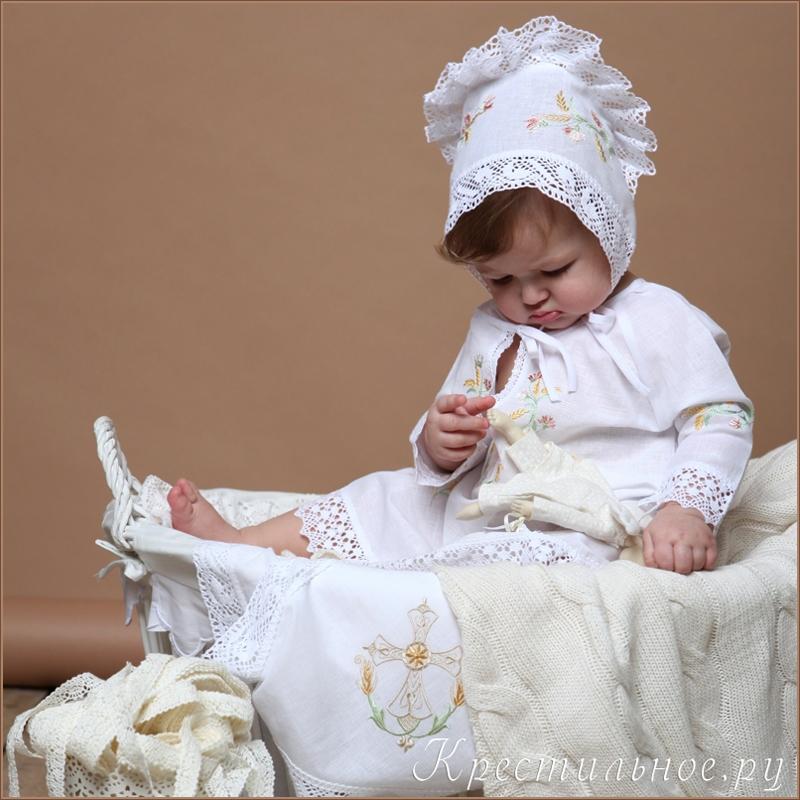 крестильный комплект с вышивкой