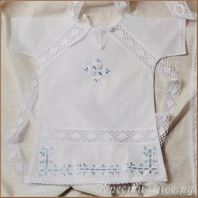 Вышивка на крестильную рубашку