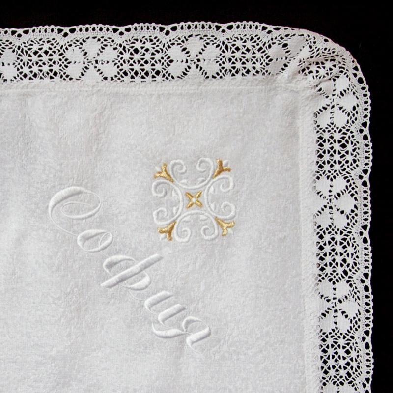 Схема вышивки для крестильного полотенца