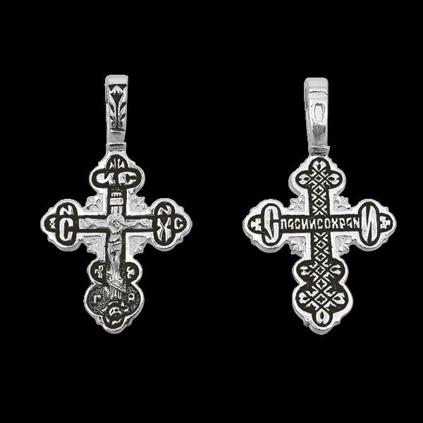 серебряный крестик елизавета 03048