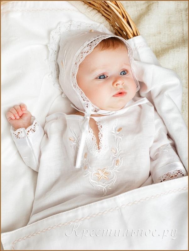 вышивка на крестильной сорочке