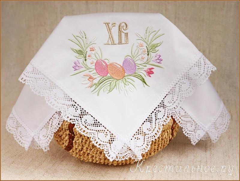 салфетка пасхальная кружевная