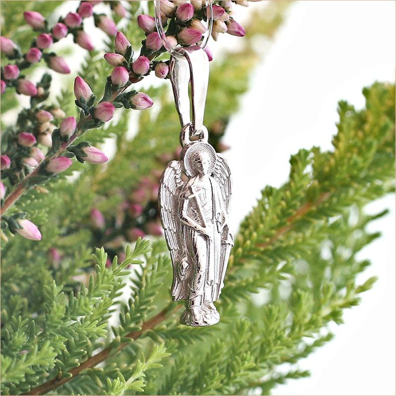 серебряный Ангел Хранитель в подарок ребенку на день Ангела или крестины