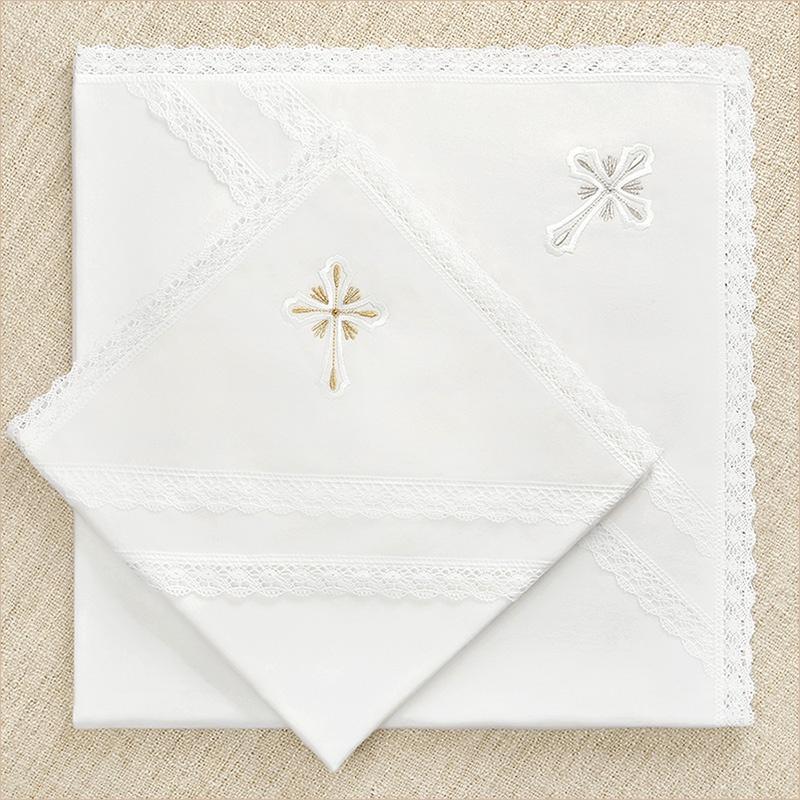 теплые крестильные пеленки из фланели для зимнего крещения ребенка