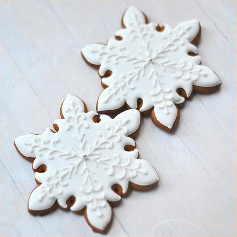 пряники снежинки ребенку на рождество