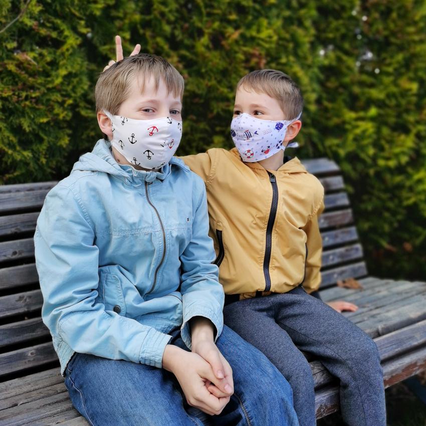 Многоразовая тканевая маска с принтом детская