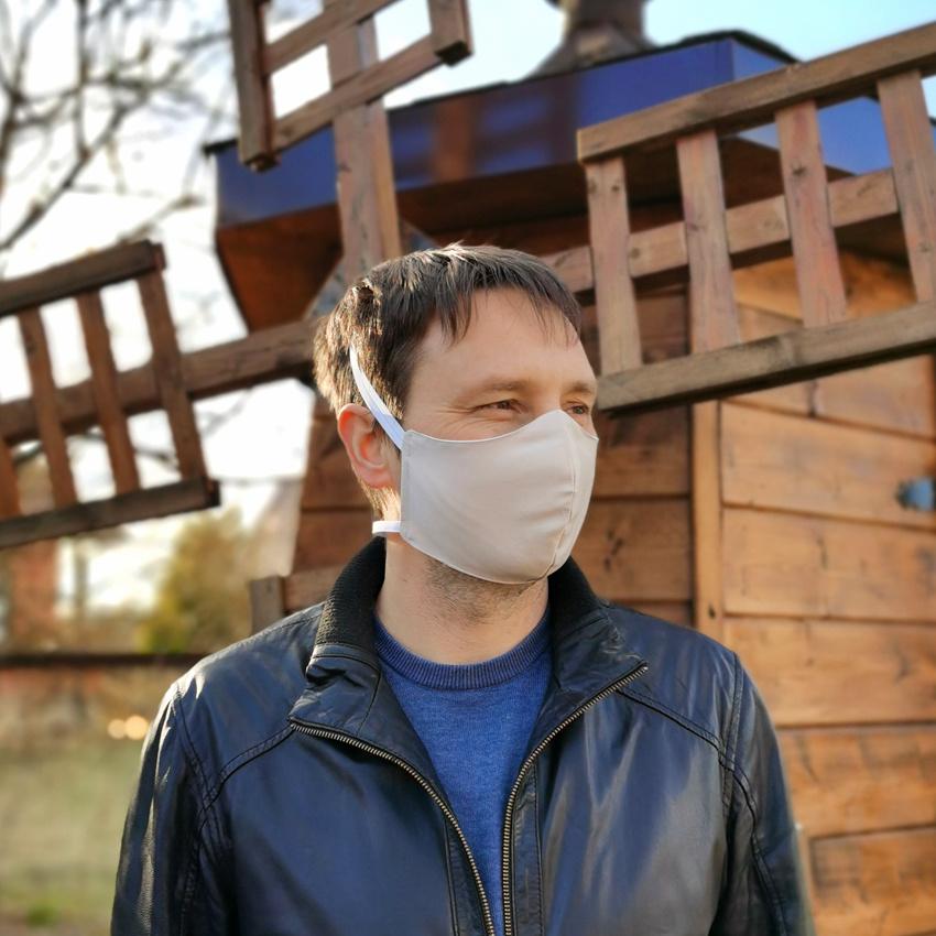 Мужская многоразовая тканевая маска