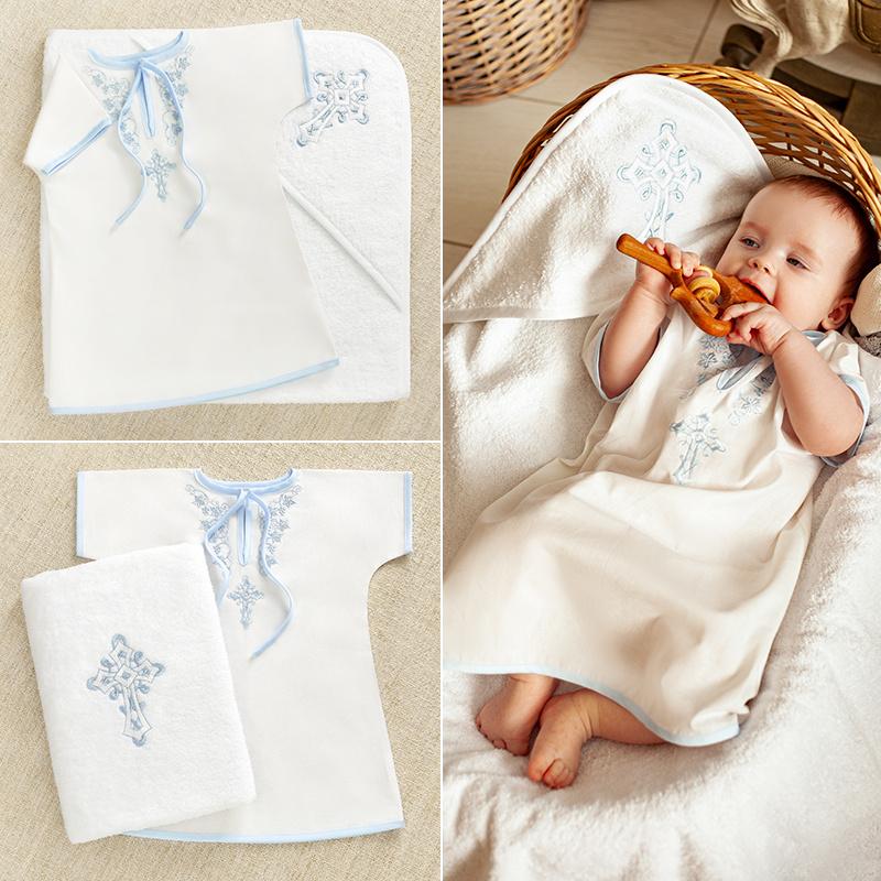 """Набор """"Голубые листики"""" с полотенцем"""
