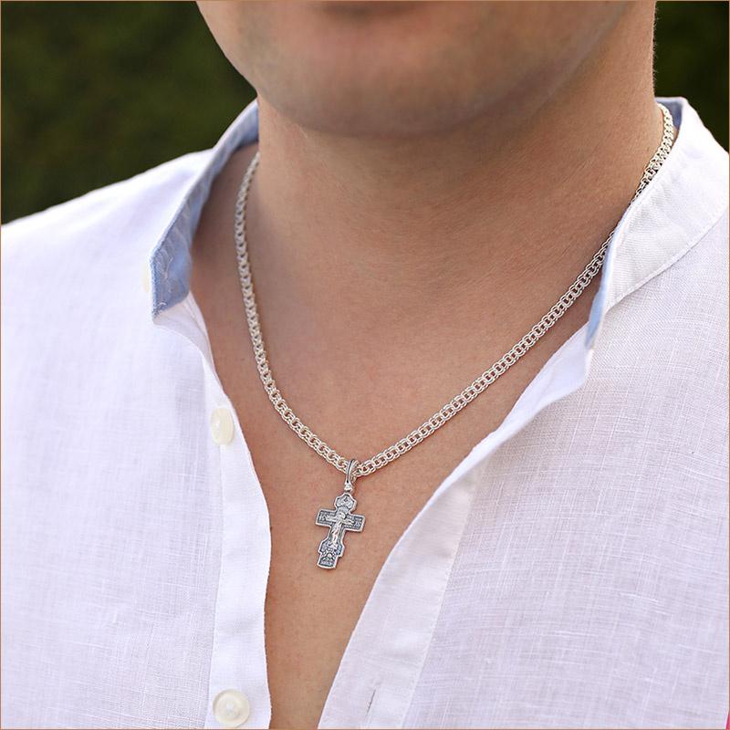 Мужская цепь Бисмарк 0,6 серебро