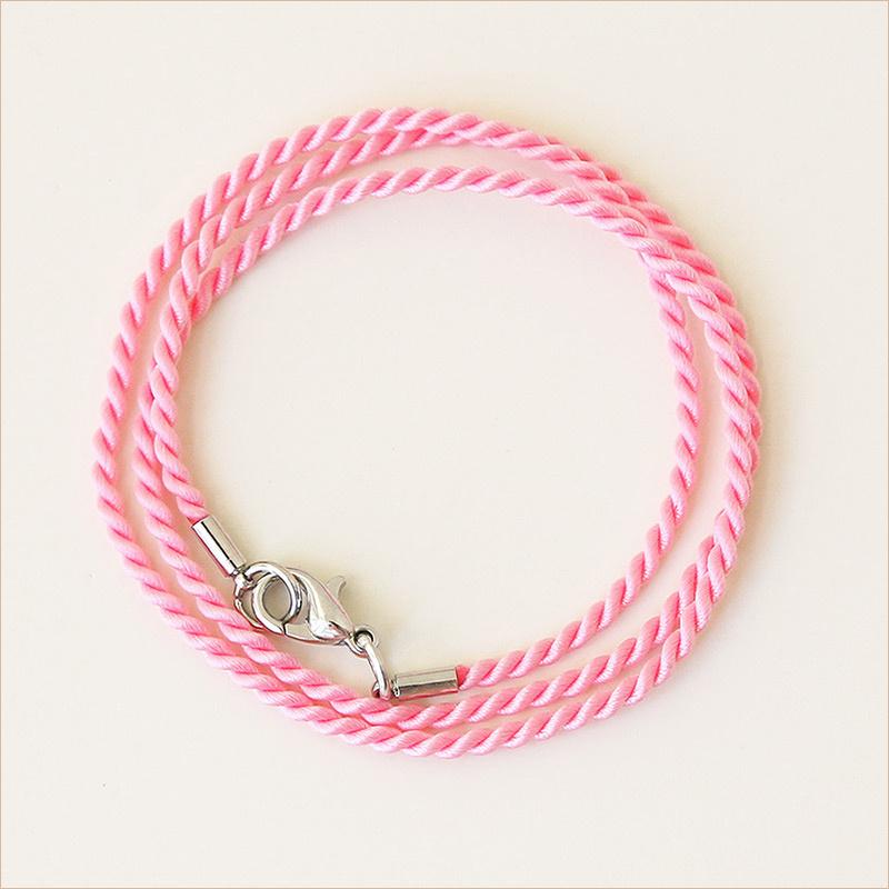 Гайтан шелковый П2 яркий розовый