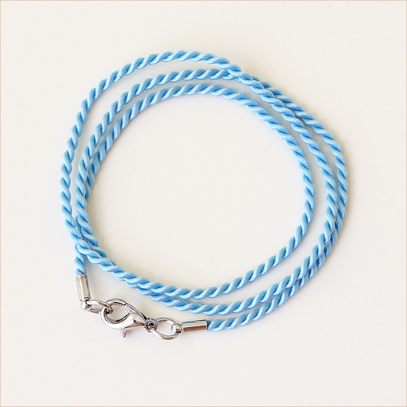 Гайтан шелковый П13 лазурный голубой