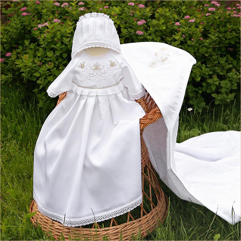 Крестильный набор для девочки с махровым уголком Елизавета, доставка.