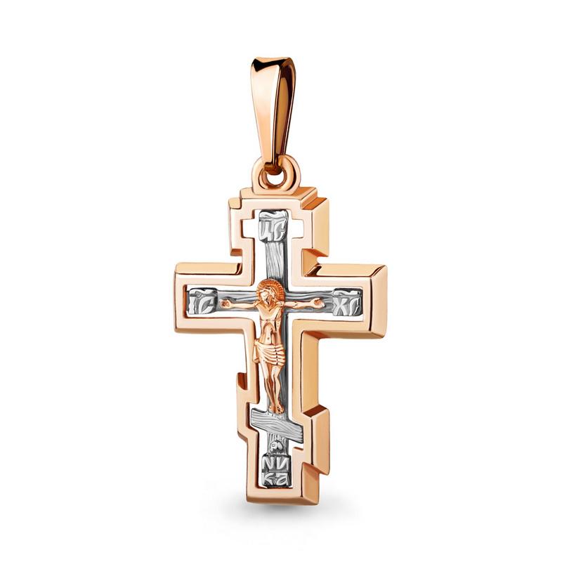 Золотой крестик арт.12194, средний