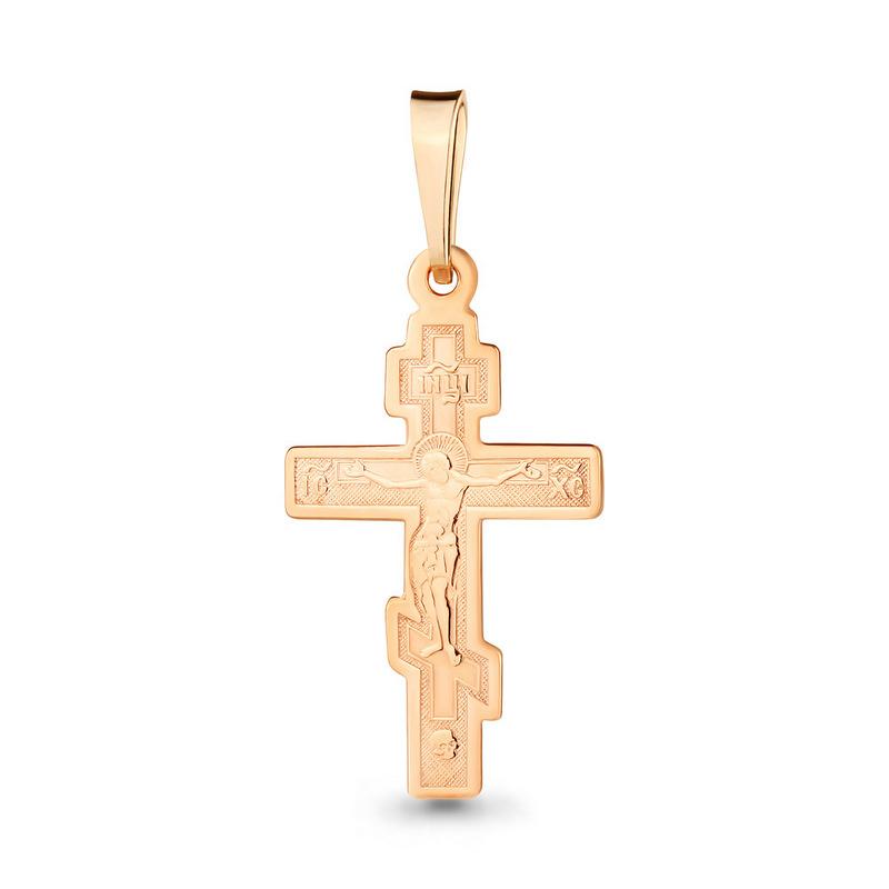 Золотой крестик арт.12615, средний