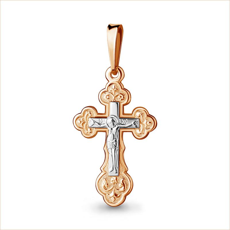 Золотой крестик арт.11992, средний