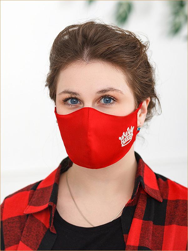 Красная маска Корона женская