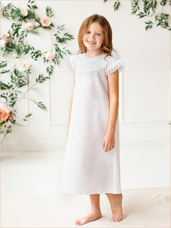 Детская ночная рубашка Белые розы