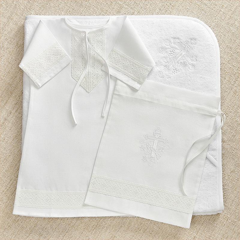Крестильный набор для мальчиков с вышивкой