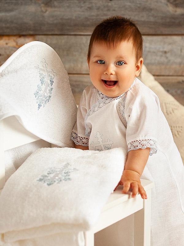 """Комплект """"Голубая лоза"""" с классическим полотенцем"""