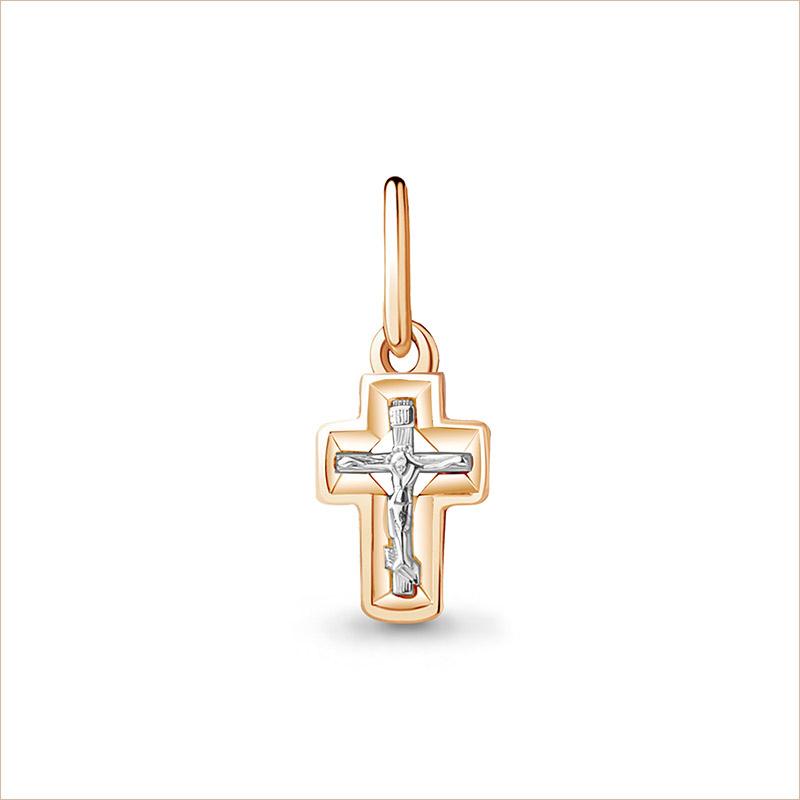Крестик золотой для младенца арт 14601, недорого