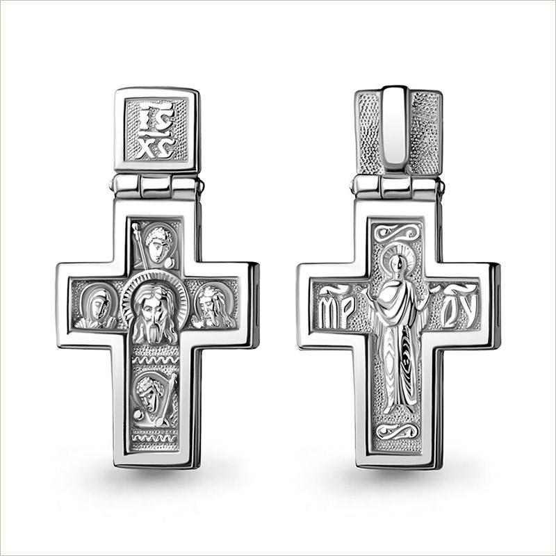 Освященный серебряный крестик с доставкой в Москве, по России