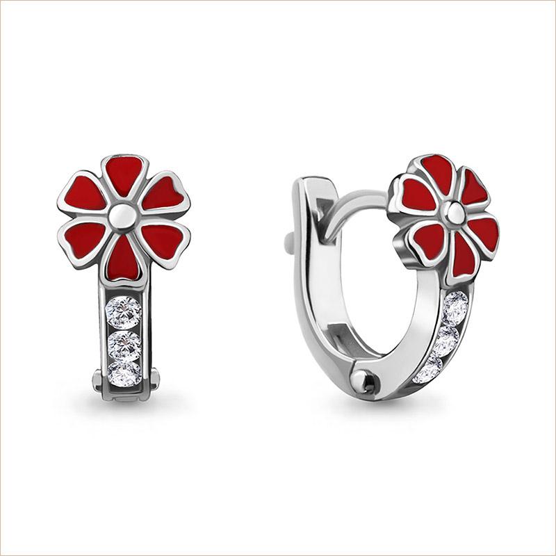 Серебряные сережки Цветочек арт.45866А