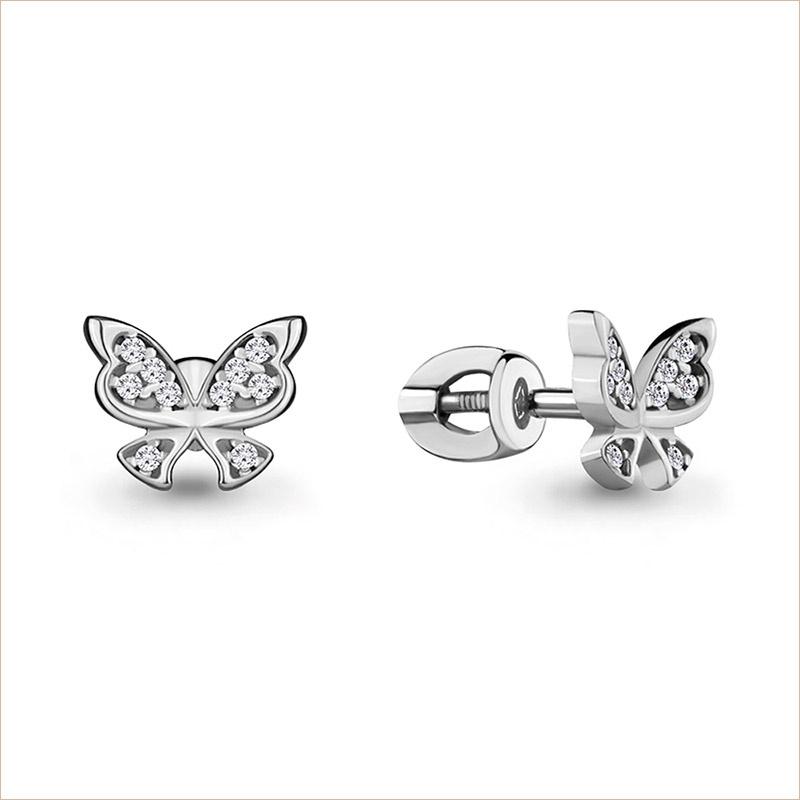 Серебряные сережки арт.46244А