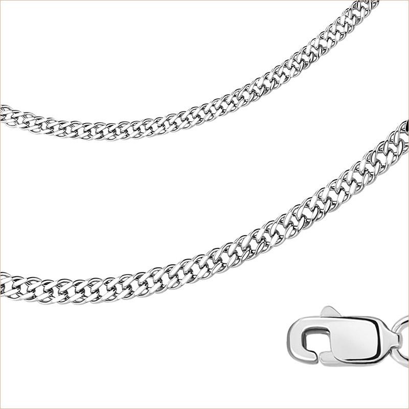 Цепь 2РМ арт.3160 родированное серебро