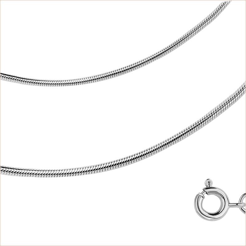 Цепь Шнурок арт.2730 родированное серебро