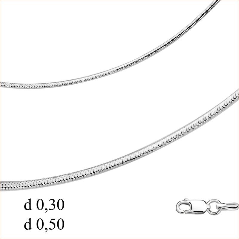 Цепь Шнурок арт.220783 родированное серебро