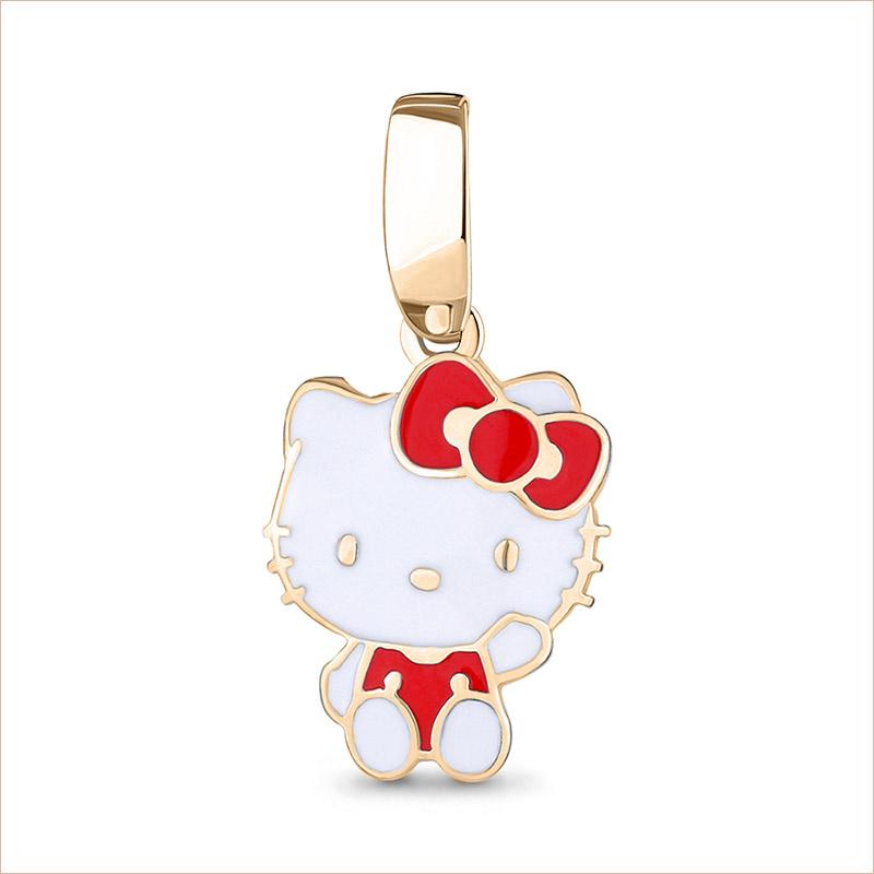 Серебряная подвеска Hello Kitty арт.15078, позолота