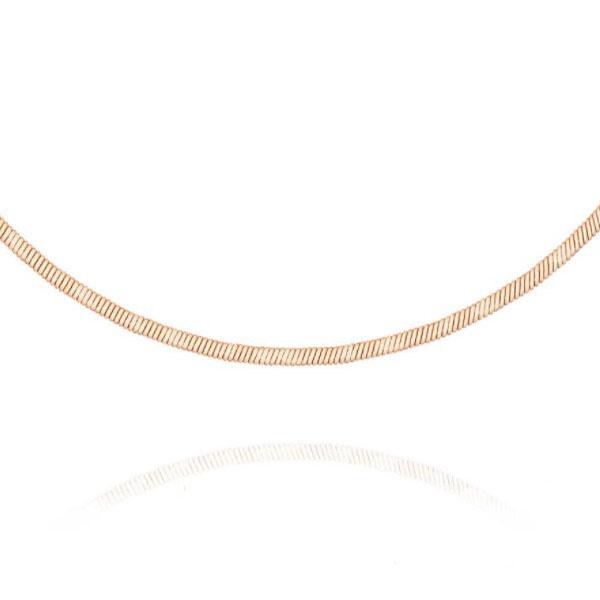 Золотая гладкая цепочка для крестика ребенку, плетение снейк, доставка