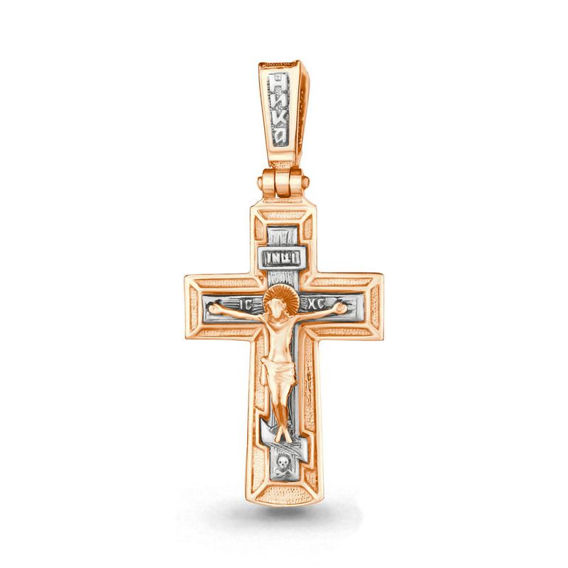 Золотой крест арт.11421, мужской