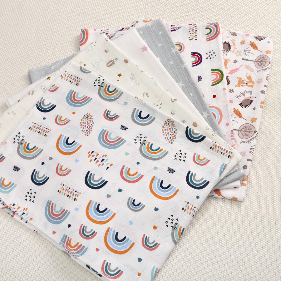 Муслиновая пеленка с цветным принтом