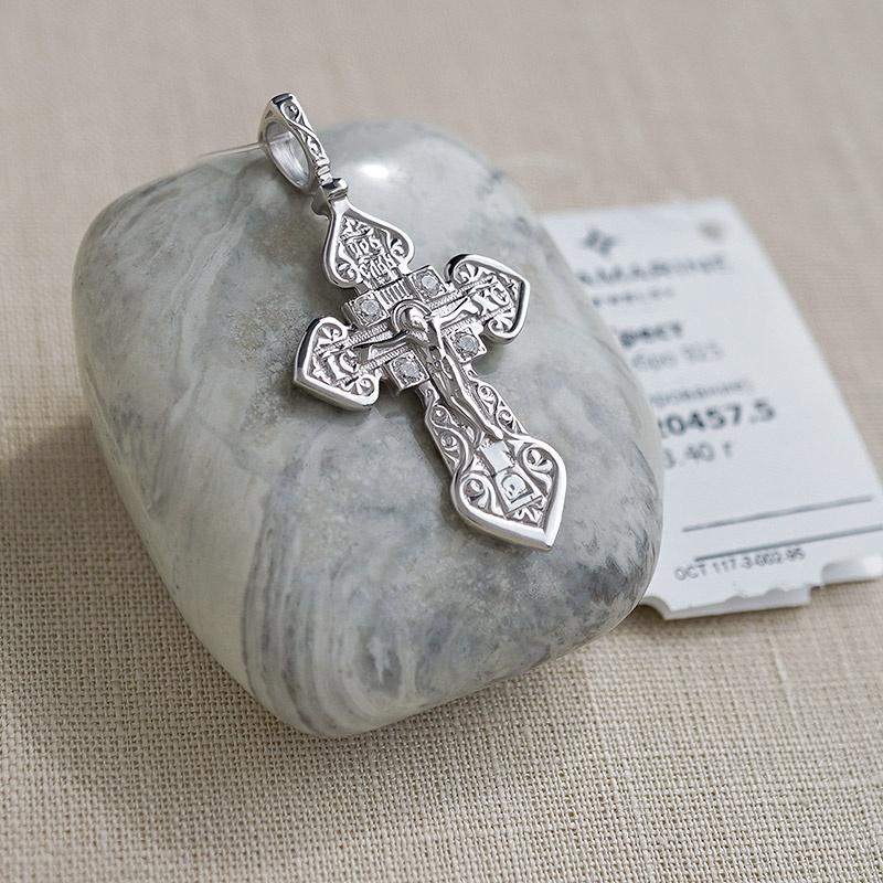 Крест серебряный арт.20457 мужской