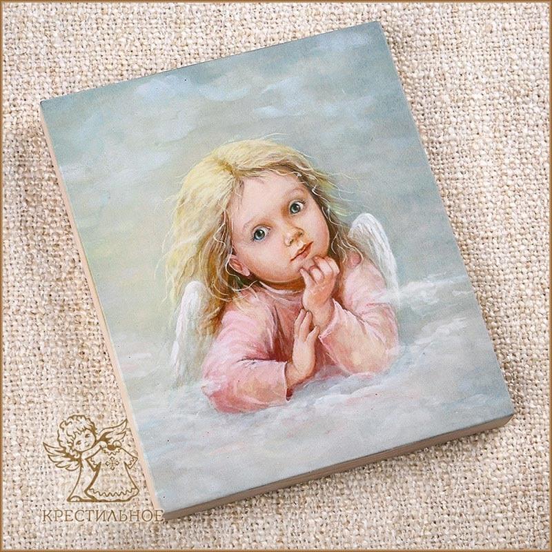 деревянное панно Ангел в облаках, Лида-студия