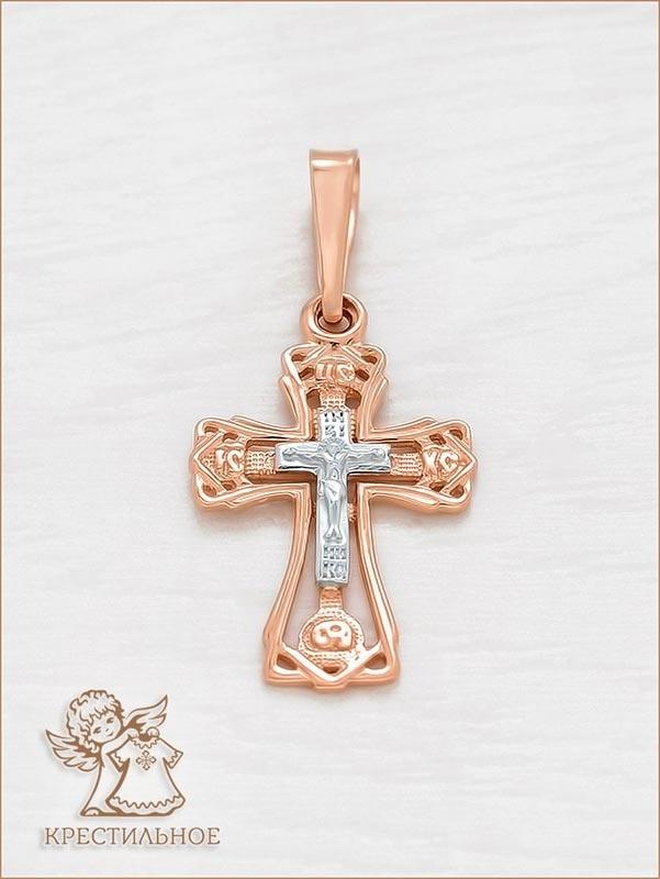маленький золотой крестик арт.11997