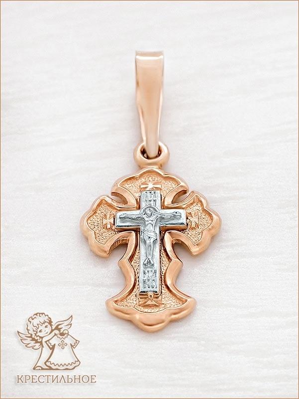 маленький золотой крестик арт.1004