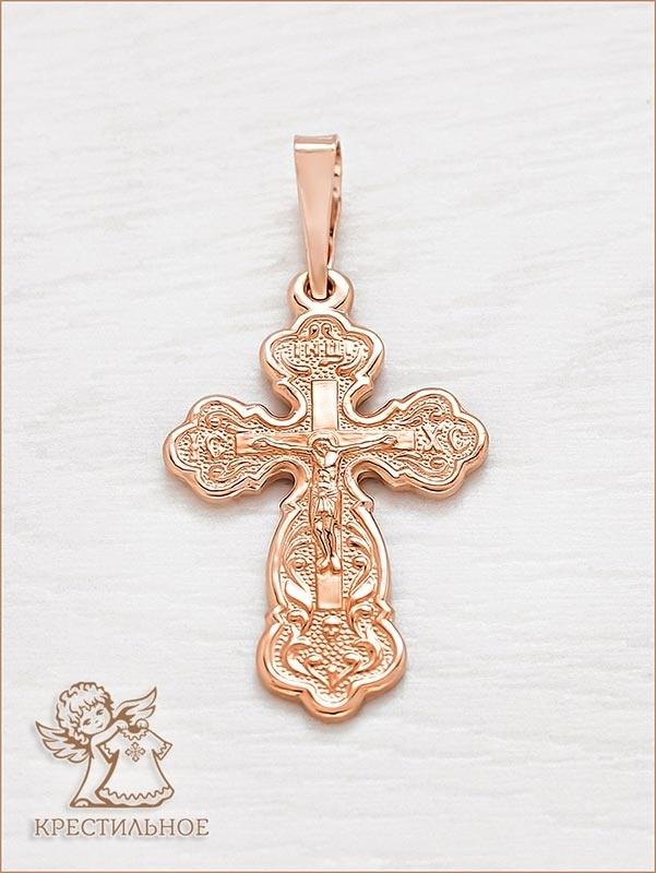 православный золотой крестик, арт.10437