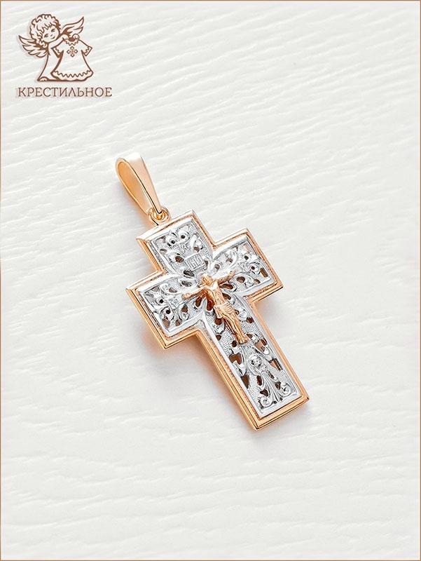 красивый нательный крестик арт.12016