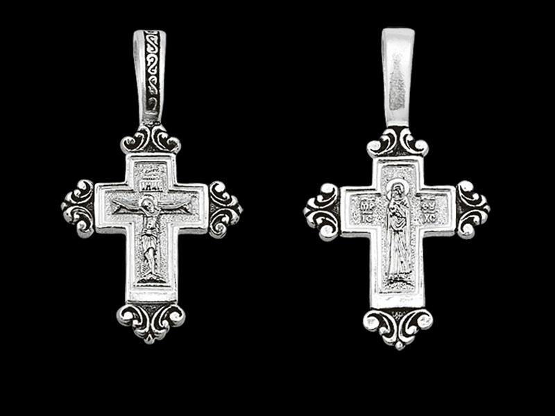 Серебряный крестик арт.03023