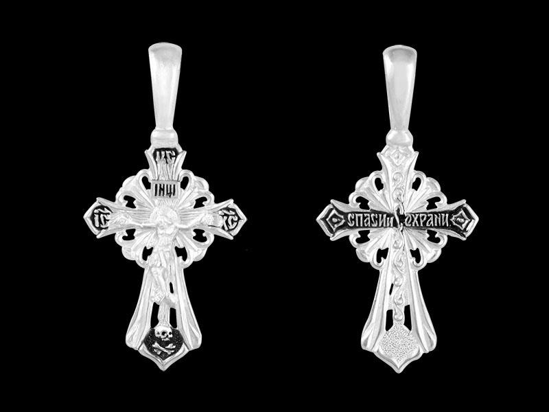 Серебряный крестик арт.03521